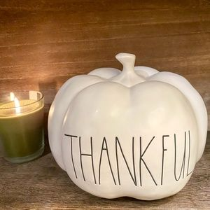 NEW - Rae Dunn - THANKFUL - Large pumpkin decor